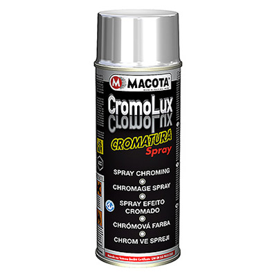 Cromolux: Chrome Plating Paint in 400 ml spray can with resistance up to 400°C