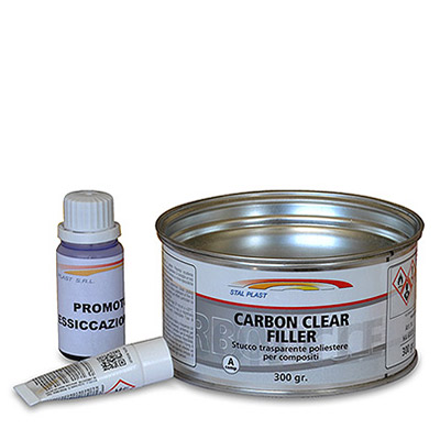 Carbon Clear Filler - 2k Polyester Clear Filler for carbon fibre, glass fibre and plastic