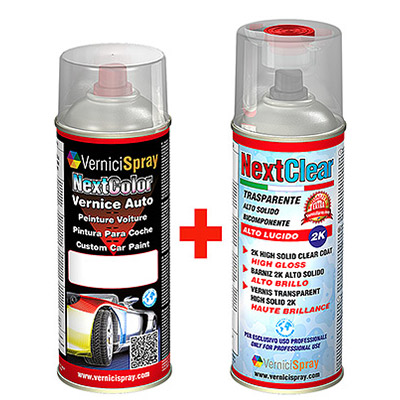 Professional Automotive Touch Up Kit spray Metallic Paint and 2k high gloss clear coat