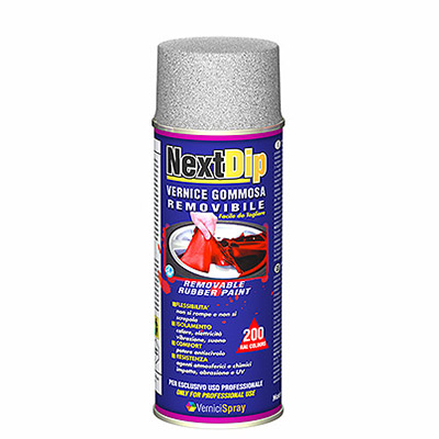 NextDip Metallic Removable Rubber Coating in spray can