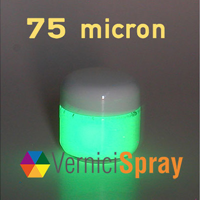 Glow in the Dark Paint (phosphorescent): high performance with 12 hours of light - 75 microns 50 gr