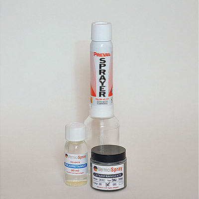 NextReflect Kit - Reflective Paint in silver finish 100 gr and Spray Gun