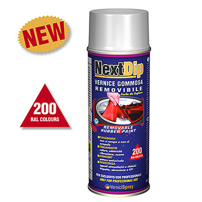 NextDip Removable Rubber Spray Paint in RAL colours