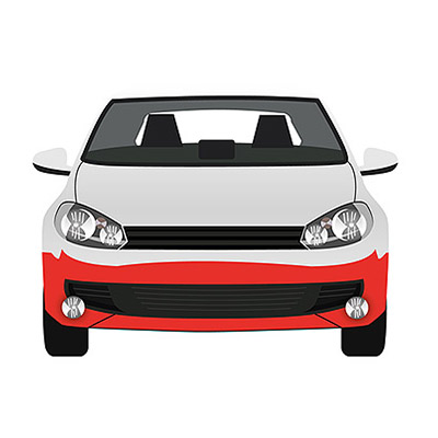 Front Bumper - Black with Fog Lamp holes