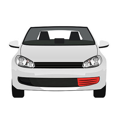 Front Bumper Grille - Left side with Chrome Frame