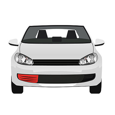 Front Bumper Grille - Right side with Chrome Frame
