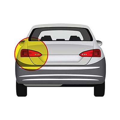 Rear Bumper Reflector - Left side