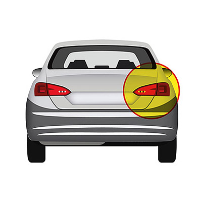 Rear Bumper Reflector - Right side