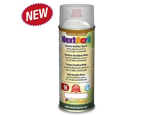 NextAcril - Matt Acrylic Spray Paint even for PVC e ABS Ral 7030 stone grey