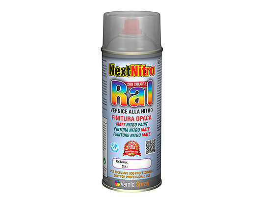 Nitro Paint in spray available in every matt RAL colour